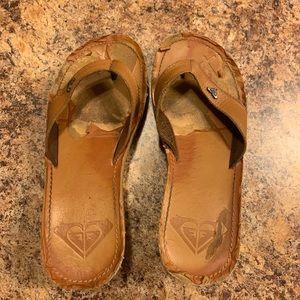 Very worn Roxy flip flop sandals